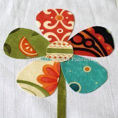 Applique | Flower Pattern | Free Pattern & Tutorial at CraftPassion.com I love http://www.pinterest.com/eled/applique-tutorials/