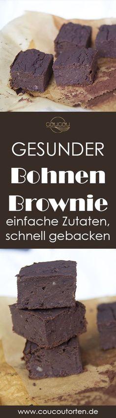 Lust auf Schokolade aber keine Lust auf viele Kalorien? Diese gesunden Bohnen Brownies sind aus einfachen Zutaten, schnell gemacht und schmecken super lecker. These healthy brownies are made out of beans and natural ingredients and super simple to make.