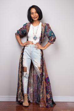Boho Summer Dress | Bohemian Garden Party Dress | Smocked Waist Shirt Dress with half sleeves | Gypsy duster Green Summer Dresses, Bohemian Summer Dresses, Boho Dress, 50 Style Dresses, Loungewear Outfits, Maroon Dress, Dusters, Boho Outfits, Kimonos