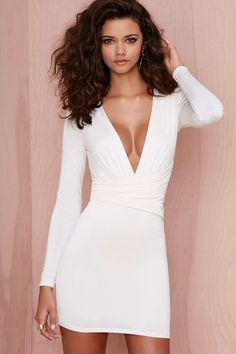 Nasty Gal Alina Dress - Ivory