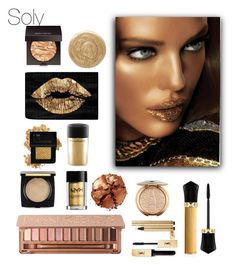 """""""Soly: gold"""" by solyslstore ❤ liked on Polyvore featuring beauty, Forever 21, Burberry, Christian Louboutin, MAC Cosmetics, Laura Mercier, Pat McGrath, Urban Decay, NYX and Yves Saint Laurent"""