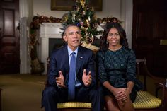 Weekly Address: Merry Christmas from the President and First Lady. I love The Obamas!!