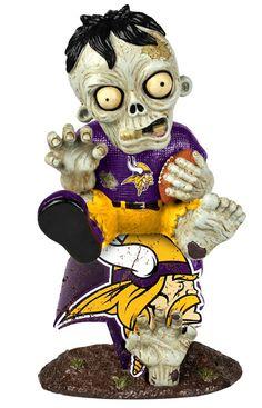 Minnesota Vikings Zombie On Logo Figurine