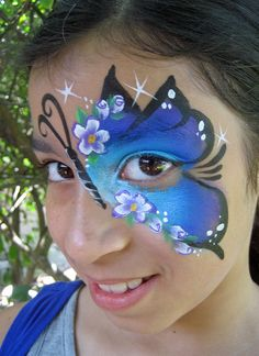 Butterfly Face Painting by Lisa Morales - www.apinchofwonderful.com