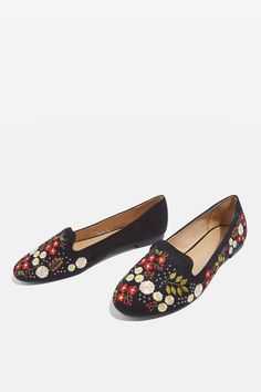 These black slippers tick off two key trends for this season; floral designs and embroidery. A must-have wardrobe update.