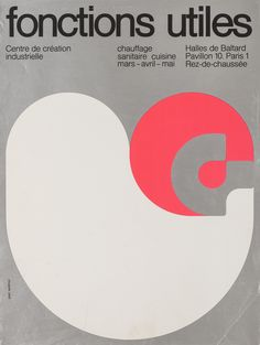 Jean Widmer, poster, Fonctions Utiles, 1970