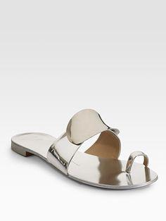 Giuseppe Zanotti  Metallic Toe-Ring Sandals  #SaksLLTrip