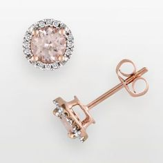 I love these. I want earrings and a ring and a necklace all in rose gold to match my watch. And the morganite gem is just fantastic.