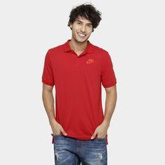 Camisa Polo Nike Nsw Matchup Ss Jsy - Vermelho