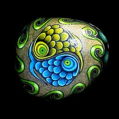 hand painted stone | Painted Stone | Flickr - Photo Sharing!