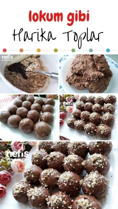 Cookie Recipes, Snack Recipes, Dessert Recipes, Almond Recipes, Low Carb Recipes, Wie Macht Man, Turkish Recipes, Diet And Nutrition, Chocolate Cookies
