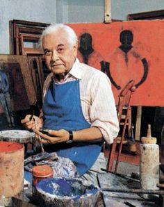 RUFINO TAMAYO (25 agosto 1899,Tlaxiaco, Oaxaca - 24 junio 1991, Ciudad de México) pintor y muralista mexicano.Su obra refleja su fuerza racional, emocional, instintiva, física y erótica. Su producción expresa sus propios conceptos de México;sin seguir corriente de sus contemporáneos, Diego Rivera y Siqueiros. Junto con Lea Remba creó un nuevo tipo de técnica gráfica, conocida como mixografía; impresión sobre papel a la que se le añade profundidad y textura.