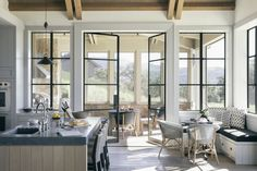Known for reinterpreting the classic country vacation home for contemporary clients, Luke and Ani Wade of Wade Design Architects recently designed a compelling retreat for a young family in Sonoma County. The property is a comfortable space for hosting, and includes areas for both formal and informal gatherings. #contemporaryhouse #contemporarydesign #farmhouse #farmhousedesign #estatedesign