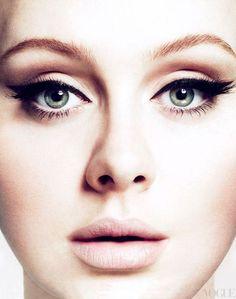 Adele - Vogue.  Gorgeous makeup!