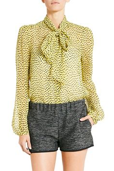 DVF | The Jezebel top is the perfect work blouse in a sophisticated, printed chiffon. http://on.dvf.com/1ap4HbS