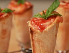 Get the recipe: pizza cones - POPSUGAR Studios