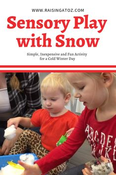 Snow Sensory Play Sensory play is awesome for toddlers, preschoolers and young children. Here are some simple fun activities you can do using snow! Sensory Activities, Sensory Play, Activity Days, Young Children, Getting Out, Color Mixing, Raising, Little Ones, Homeschooling