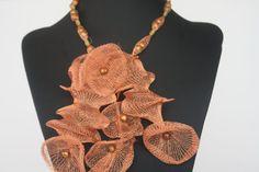Unique tubular Mesh necklace by NAhandmadeJewelry on Etsy, $35.00