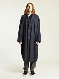 Issey Miyake Men's Shawl Collar Coat