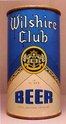Wilshire Club Beer Can from San Francisco Brewing Corp. All Beer, Best Beer, Beer Can Collection, Old Beer Cans, Beer Club, Beer Brands, Vintage Packaging, Home Brewing, Craft Beer