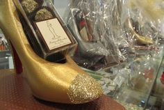 Madame Chocolat's handcrafted Chocolate Stiletto.