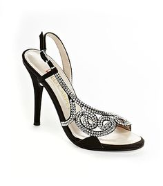 E! Live From the Red Carpet Rhinestone Embellished Sandals