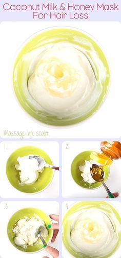 How to Make a Coconut & Honey Hair Mask for Hair Loss   Dirty Looks Hair & Beauty Turoials & Lotsa Gossip