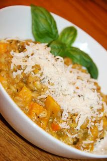 Butternut Squash Farrotto (risotto with farro) #fall #food #cooking # ...