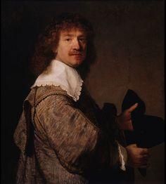 Portrait of a Man Holding a Black Hat | Rembrandt van Rijn
