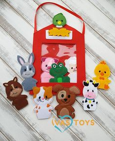 ☆ Finger Puppets ✓ Puppets Theater ☛ The best Gift for Children! ✓ All parts are stitched without glue! ✓ Make your child happy! ➨ Order now! ✈ IvasToys™ Handbag-small house with Puppets Theater is the best gift for children. This Felt Puppets Theater is unique and made by hands with great