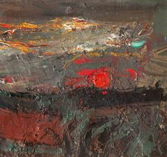 Joan Eardley - Setting Sun, Oil on canvas, x cm, Hunterian Art Gallery, University of Glasgow Abstract Images, Abstract Landscape, Landscape Paintings, Abstract Art, Abstract Expressionism, Gallery Of Modern Art, Art Gallery, Sun Art, Art Uk