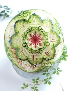 #watermelon #fruit carving                                                                                                                                                                                 Más