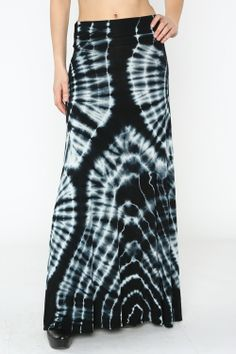 Tie Dye Maxi Skirt #wholesale #clothing #fashion #neutral #black #white #love #ootd #wiwt #shorts #skirts #dresses #tanks #tops #pants #jackets #outerwear #trousers #leggings #springequinox