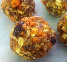 Carrot Pie Protein Balls #clean eating #raw #gluten-free