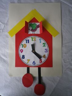 klok knutselen tikkende tijd knutselen