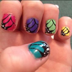 Butterfly spring nails :)