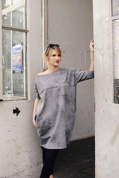 Oversize Kleid aus Sommersweat  Biostoff