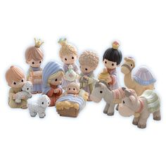 Precious Moments Nativity Figurines - Come Let Us Adore Him - Miniature Nativity 11 Piece Set