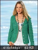 Green Jacket free crochet graph pattern