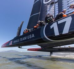 Oracle Team USA America's Cup AC72 sailing yacht