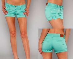 Denim Shorts Mint