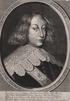 Prince Philip William of Neuburg by Matthias Ottonis Crisp, 1637 (PD-art/old), Österreichische Nationalbibliothek, on 8 June 1642 at the age of 27 he married in Warsaw Anna Catherine Constance Vasa, who brought a considerable dowry in jewels and cash, calculated at a total of 2 million thalers