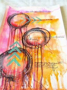 ART JOURNALING MIXED MEDIA | DRIPPING TUTORIAL | Nika In Wonderland Art Journaling and Mixed Media Tutorials