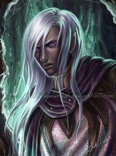 "Dark Elf Male | Drizzt ""The Early Days"" by Keelerleah"
