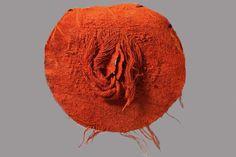 by Magdalena Abakanowicz Textile Sculpture, Art Textile, Sculpture Art, Magdalena Abakanowicz, Asian Sculptures, Orange Art, Feminist Art, Erotic Art, Art Google