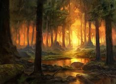 Theros block Forest by Adam Paquette