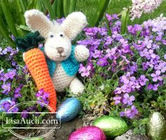 Mr Easter Bunny! So cute crochet bunny patterns free