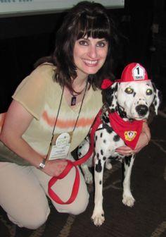 Carol and Tango Fire Safety Dog at BlogPaws 2012