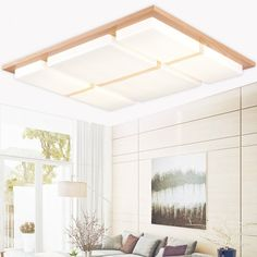 86.45$  Buy now - http://aliy0o.worldwells.pw/go.php?t=32520180757 - Wooden Modern led ceiling lights for living room bedroom luminaria de teto home decoration led ceiling lamp fixtures luminaire