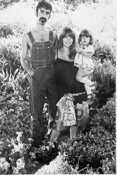 Frank, Gail and Moon Zappa by Julian Wasser